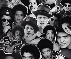 Collage, wallpaper, and bruno mars image