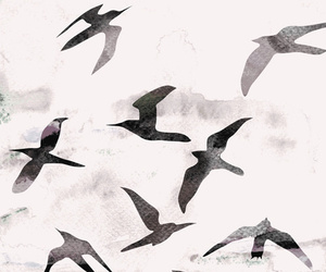 birds, wallpaper, and art image