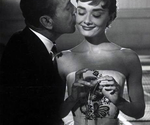 audrey hepburn, black and white, and sabrina image