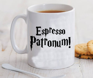 harry potter, mug, and espresso patronum image