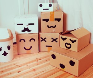 awn, boxes, and brown image