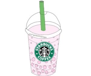 bubble tea, pink, and starbucks image