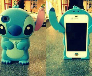 iphone, stitch, and blue image