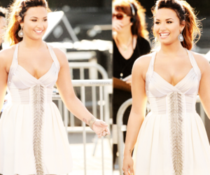 beautiful, demi lovato, and dress image