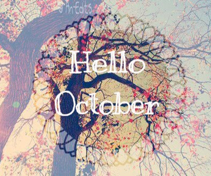 october, hello october, and fall image