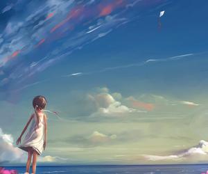 sky, art, and sea image