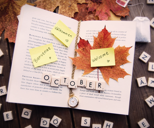october, autumn, and welcome image