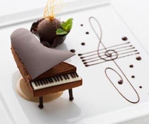 chocolate, piano, and food image