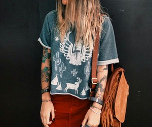 girl, tattoo, and indie image