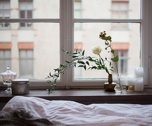 bed, blog, and flowers image