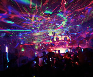 party, light, and rave image