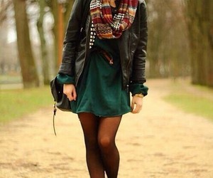 awesome outfit, gorgeous brunette, and beautiful girl image