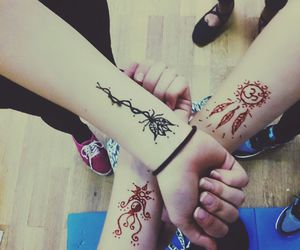 friendship, henna, and miley image
