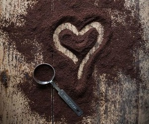 heart, coffee, and love image