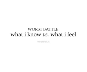 quote, battle, and feel image