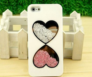 iphone, white, and hearts image