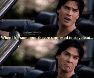 the vampire diaries, damon salvatore, and tvd image