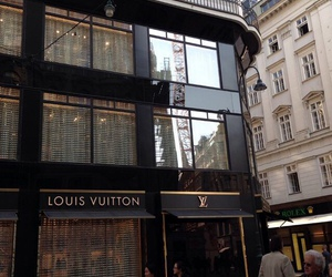 Louis Vuitton, city, and luxury image