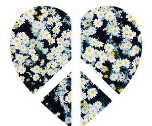 heart, peace, and flower image