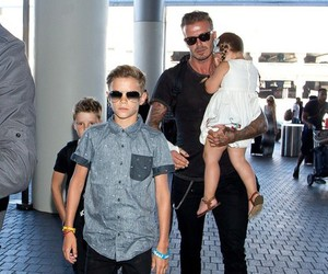 boy, daddy, and beckham family image