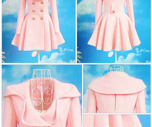 coat, outfit, and pink image