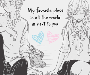 love, anime, and place image