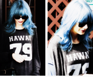 blue hair, pretty, and Taylor Swift image