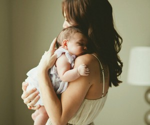 baby, mother, and mom image