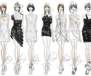 fashion, sketch, and style image