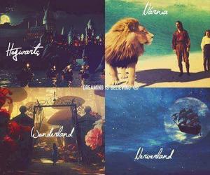 narnia, neverland, and wonderland image