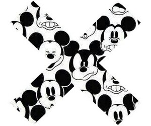 mickey mouse and x image