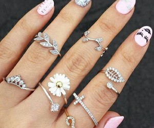 girl, pink, and ring image