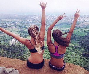 friends, girl, and fitness image