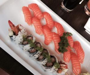 food, norway, and sushi image