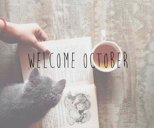 october, autumn, and book image
