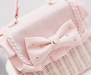 pink, bag, and pastel image