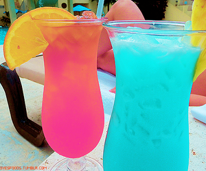 blue, coctail, and pink image