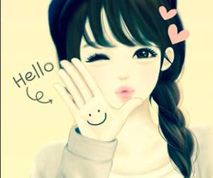 hello and smile image