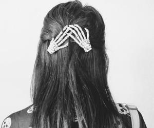 hair, fashion, and skull image