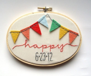 happy, wedding decor, and hoop art image