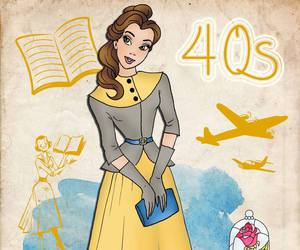 1940, 1940s, and disney princess image