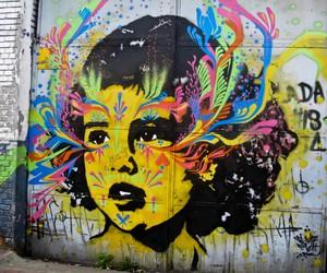 art, child, and graffiti image