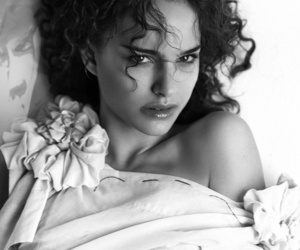 black and white and natalie portman image