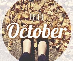 october, hello, and fall image
