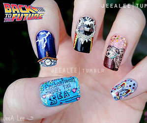 Back to the Future and nails image