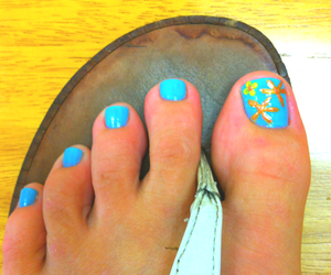 blue, feet, and gold image