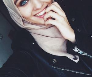 hijab, islam, and smile image