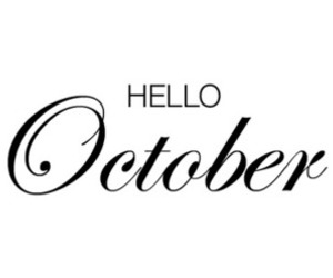 october, hello, and hello october image
