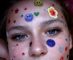 girl, sticker, and pale image