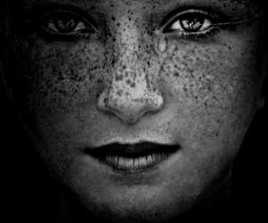 black and white, crying, and eyes image